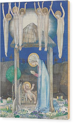 The Nativity Wood Print by Edward Reginald Frampton