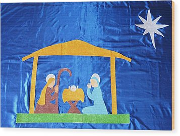 Wood Print featuring the painting The Nativity  by Magdalena Frohnsdorff