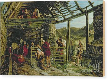 The Nativity Wood Print by William Bell Scott