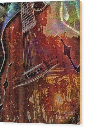 The Nature Of Music Digital Guitar Art By Steven Langston Wood Print by Steven Lebron Langston