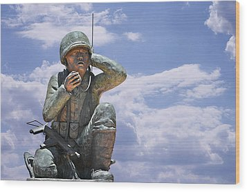 The Navajo Code Talkers Wood Print by Christine Till
