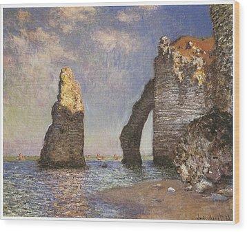 The Needle Etretat Wood Print by Claude Monet