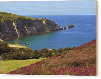 The Needles Wood Print by Ron Harpham