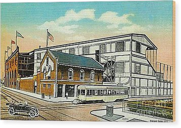 The Negro League Park Stadium In Cleveland Oh Around 1915 Wood Print by Dwight Goss