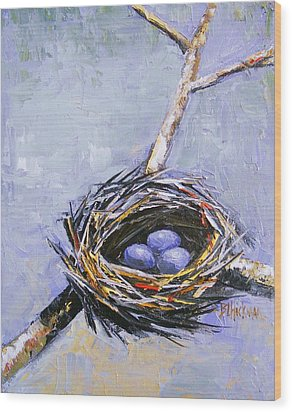 The Nest Wood Print by Brandi  Hickman