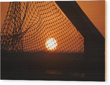 The Netted Sun Wood Print by Leticia Latocki