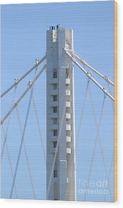 The New San Francisco Oakland Bay Bridge 7d25449 Wood Print by Wingsdomain Art and Photography