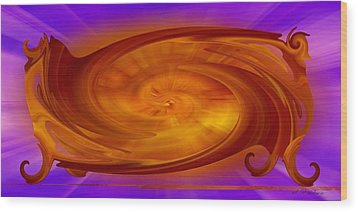 Wood Print featuring the digital art The New Universe Found In An Old Couch by rd Erickson