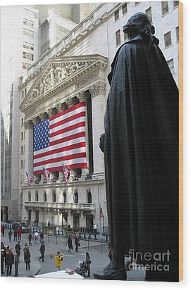 The New York Stock Exchange Wood Print by RicardMN Photography