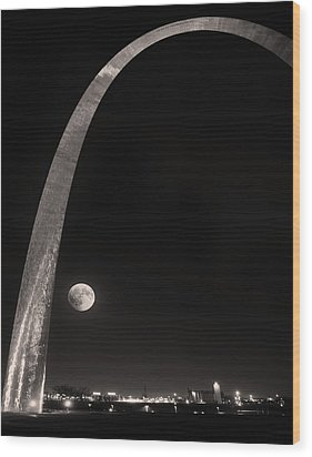 The Night Arch Wood Print by Steven  Michael