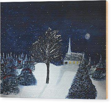 The Night Before Christmas Wood Print by Dick Bourgault