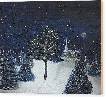 The Night Before Christmas Wood Print