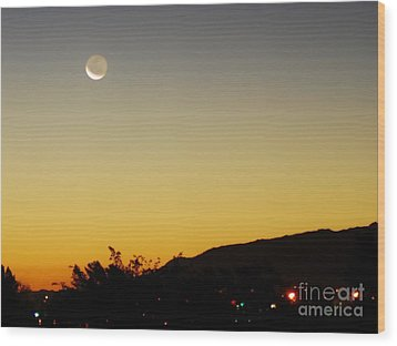 Wood Print featuring the photograph The Night Moves On by Angela J Wright