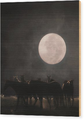 The Night Shift Wood Print by Ron  McGinnis