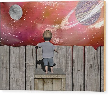 The Night Sky Wood Print by Michele Wilson