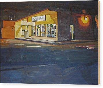 The Night Wash Wood Print by Deb Putnam