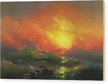 The Ninth Wave 1850 By Aivazovsky Wood Print by Movie Poster Prints