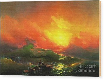 The Ninth Wave Wood Print by Pg Reproductions