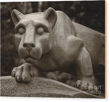 The Nittany Lion Shrine Wood Print by Mark Miller