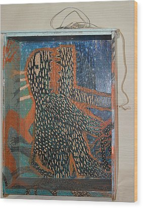 The Non-erring Line Is A Papercut - Drawer Wood Print by Nancy Mauerman