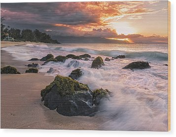 The North Shore Of Maui Wood Print by Hawaii  Fine Art Photography