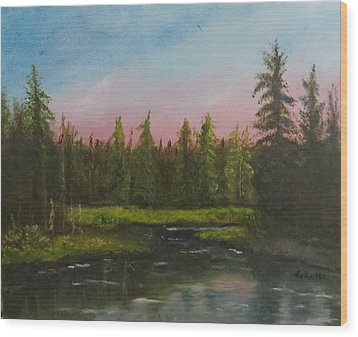 Wood Print featuring the painting The Northeast by Sharon Schultz