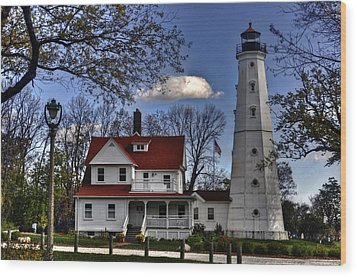Wood Print featuring the photograph The Northpoint Lighthouse by Deborah Klubertanz