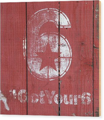 The Number 6 Wood Print by Art Block Collections