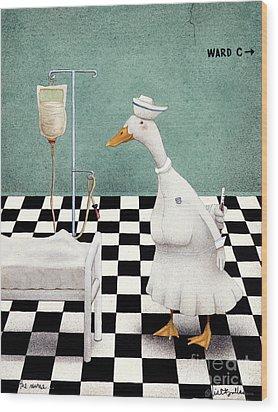 The Nurse... Wood Print by Will Bullas
