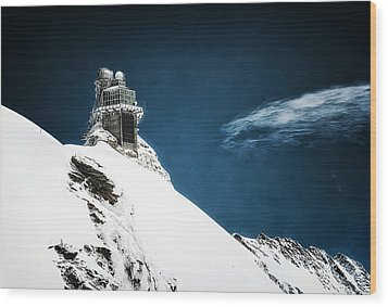 The Observatory Wood Print by Ryan Wyckoff