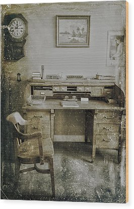 The Office  Wood Print by Jerry Cordeiro