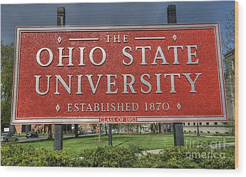 The Ohio State University Wood Print by David Bearden