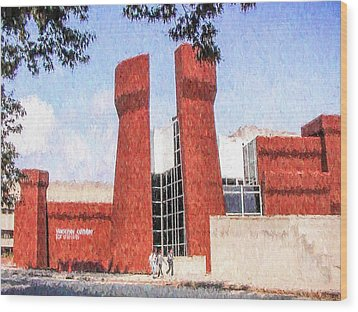 The Ohio State University Wexner Center Wood Print by Ike Krieger
