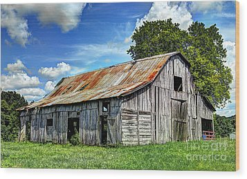 The Old Adkisson Barn Wood Print