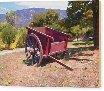 The Old Apple Cart Wood Print by Glenn McCarthy Art and Photography