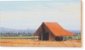 The Old Barn 5d24404 Long Wood Print by Wingsdomain Art and Photography