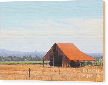 The Old Barn 5d24404 Wood Print by Wingsdomain Art and Photography