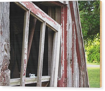Wood Print featuring the photograph The Old Barn by Beth Vincent