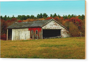 The Old Barn Wood Print by Bruce Carpenter