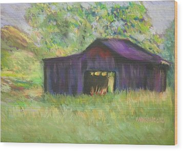 Wood Print featuring the photograph The Old Barn I by Shirley Moravec