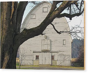 Wood Print featuring the photograph The Old Barn by I'ina Van Lawick