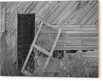 The Old Barn Wood Print by Mary Ely