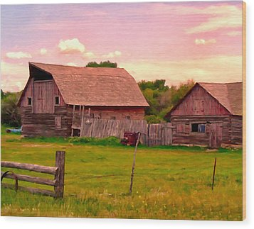 The Old Barn Wood Print by Michael Pickett
