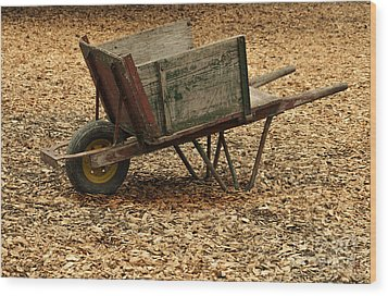 The Old Barn Wagon Wood Print