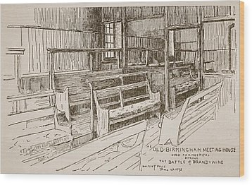 The Old Birmingham Meeting House, 1893 Wood Print by Walter Price