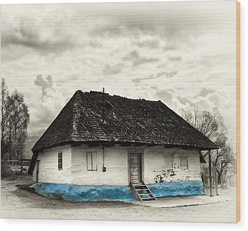 The  Old Blue House -1342  Wood Print by Dorin Stef