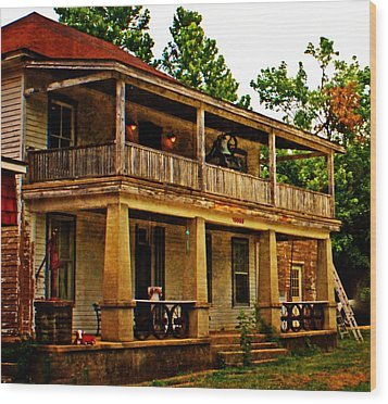 The Old Boarding House Wood Print by Marty Koch