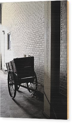 Wood Print featuring the photograph The Old Cart From The Series View Of An Old Railroad by Verana Stark