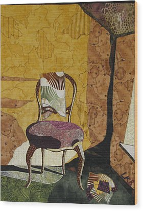 The Old Chair Wood Print by Lynda K Boardman