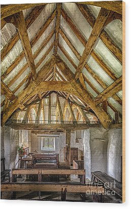 The Old Church Wood Print by Adrian Evans